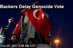 Backers Delay Genocide Vote
