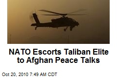 NATO Escorts Taliban Elite to Afghan Peace Talks
