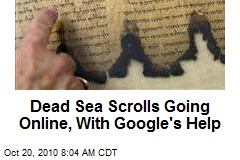 Dead Sea Scrolls Going Online, With Google's Help