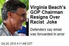 City GOP Chairman Resigns Over Racist Joke