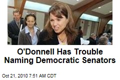 O'Donnell Has Trouble Naming Democratic Senators