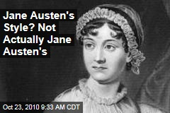 Jane Austen's Style? Not Actually Jane Austen's