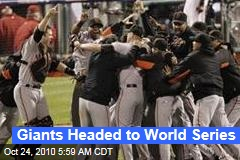 Giants Headed to World Series