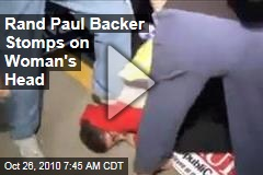 Rand Paul Backer Stomps on Woman's Head