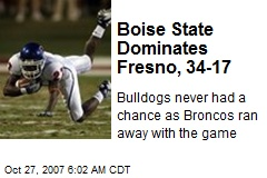 Boise State Dominates Fresno, 34-17