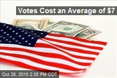 Votes Cost an Average of $7