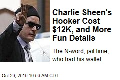 Charlie Sheen's Hooker Cost $12K, and More Fun Details