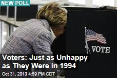Voters: Just as Unhappy as They Were in 1994