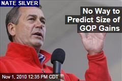 No Way to Predict Size of GOP Gains