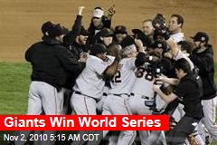 Giants Win World Series