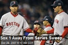 Sox 1 Away From Series Sweep