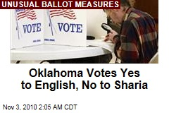 English-Only, Anti-Sharia Measures Pass in Oklahoma