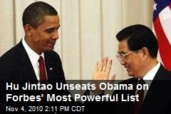 Hu Jintao Unseats Obama on Forbes' Most Powerful List