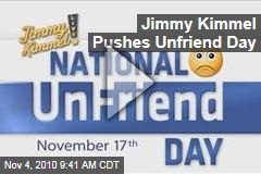 Jimmy Kimmel Pushes Unfriend Day