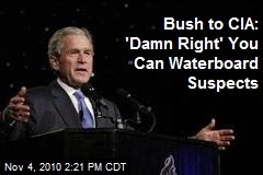 Bush to CIA: 'Damn Right' You Can Waterboard Suspects