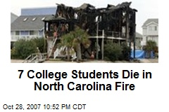7 College Students Die in North Carolina Fire