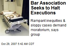 Bar Association Seeks to Halt Executions