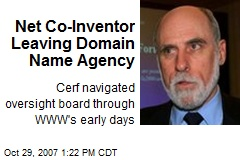 Net Co-Inventor Leaving Domain Name Agency