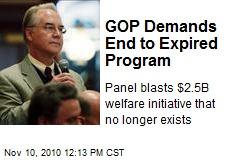 GOP Demands End to Expired Program