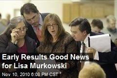 Early Results Good News for Lisa Murkowski