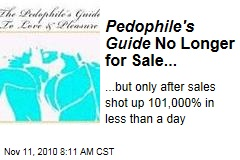 'Pedophile's Guide' No Longer for Sale on Amazon.com, But Sales Are Up 101,000%