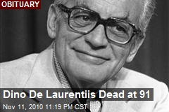 Dino De Laurentiis Dead at 91