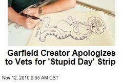 Garfield Creator Apologizes to Vets for 'Stupid Day' Strip