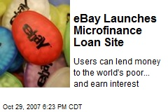 eBay Launches Microfinance Loan Site