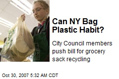 Can NY Bag Plastic Habit?