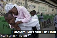 Cholera Kills 900+ in Haiti