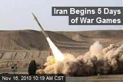 Iran Begins 5 Days of War Games