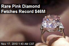 Rare Pink Diamond Fetches Record $46M