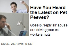 Have You Heard the Latest on Pet Peeves?
