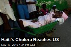 Florida Sees First Cholera Case From Haiti