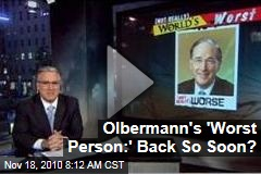 Keith Olbermann's 'Worst Person in the World' Segment Returns ... That Didn't Take Long