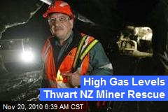 High Gas Levels Thwart NZ Miner Rescue