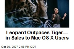 Leopard Outpaces Tiger— in Sales to Mac OS X Users