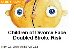 Children of Divorce Face Doubled Stroke Risk