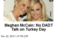 Meghan McCain: No DADT Talk on Turkey Day