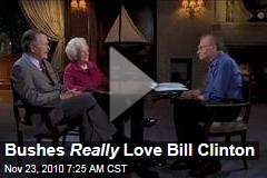 Bushes Heart Bill Clinton