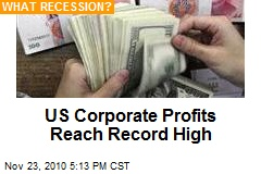US Corporate Profits Reach Record High