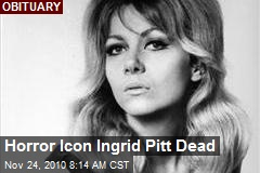 Horror Icon Ingrid Pitt Dead
