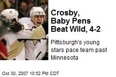 Crosby, Baby Pens Beat Wild, 4-2