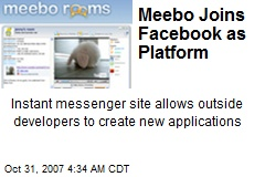 Meebo Joins Facebook as Platform