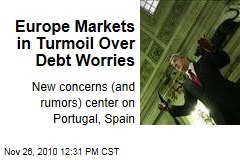 Europe Markets in Turmoil Over Debt Worries