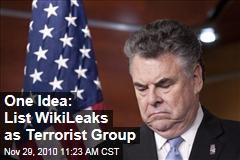 One Idea: List WikiLeaks as Terrorist Group