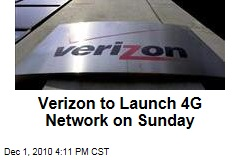 Verizon to Launch 4G Network on Sunday