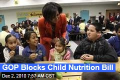 GOP Blocks Child Nutrition Bill