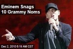 Eminem Snags 10 Grammy Noms