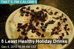 5 Least Healthy Holiday Drinks